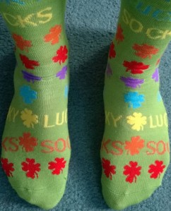 I never open umbrellas indoors, and I always write in lucky socks. :)
