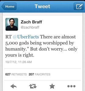 5000 gods tweet